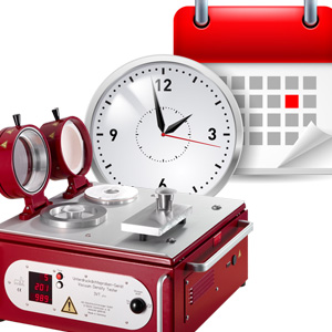 Picuter Vacuum Density Tester, clock, date sheet
